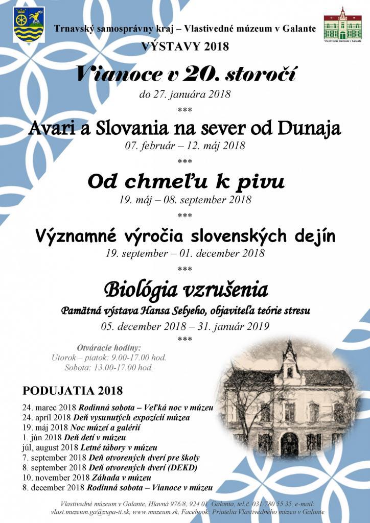 Kultúrne podujatia v meste - Výstavy a podujatia Vlastivedného múzea ... 0f0214db6ea